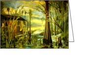 Julianne Felton Greeting Cards - Sunrise on the Swamp  Greeting Card by Julianne Felton