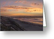 Atlantic Ocean Greeting Cards - Sunrise on Topsail Island Greeting Card by Mike McGlothlen