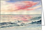 Melly Terpening Greeting Cards - Sunset Over Indian Ocean Greeting Card by Melly Terpening