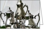 Teapot Greeting Cards - Superior Officers Silverware And Tea Service From  The Stoney Creek War Of  1812 Greeting Card by Danielle  Parent