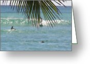 Sports Greeting Cards Greeting Cards - Surfers Greeting Card by Jewels Blake Hamrick
