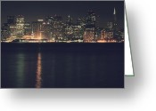 San Francisco Bay Greeting Cards - Surrender All Your Dreams to Me Tonight Greeting Card by Laurie Search