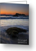 Face Greeting Cards - Surrounded by the Tide Greeting Card by Mike  Dawson
