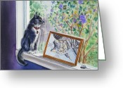 Pets Portraits Greeting Cards - Sweet Memories Greeting Card by Irina Sztukowski