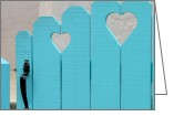 Blue Blocks Greeting Cards - Sweetheart Gate Greeting Card by Art Blocks