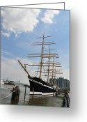 Bill Cannon Greeting Cards - Tall Ship Mushulu at Penns Landing Greeting Card by Bill Cannon