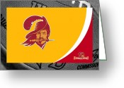 Ball Greeting Cards - Tampa Bay Buccaneers Greeting Card by Joe Hamilton