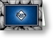 Infield Greeting Cards - Tampa Bay Rays Greeting Card by Joe Hamilton