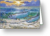 Corona Greeting Cards - Tarpon cut Greeting Card by Carey Chen