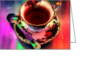 Johnny Trippick Greeting Cards - Tea for One Greeting Card by Johnny Trippick
