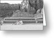 Archaeology Greeting Cards - Temple of Hatshepsut Greeting Card by Erik Brede