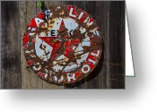 Holes Greeting Cards - Texaco Sign Greeting Card by Garry Gay