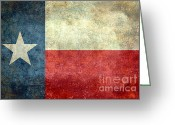 Elections Greeting Cards - Texas the lone star state Greeting Card by Bruce Stanfield