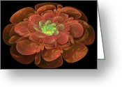 Digital Flower Greeting Cards - Textured Bloom Greeting Card by Sandy Keeton