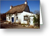 Paul Cowan Greeting Cards - Thatched cottage Greeting Card by Paul Cowan