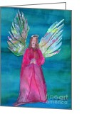 Storybook Greeting Cards - The Angel Greeting Card by Marlene Robbins