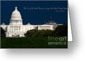 Civil Rights Greeting Cards - The Arc of the Moral Universe is Long but It Bends Toward Justice Greeting Card by Doug Sturgess