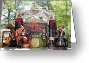 Renaissance Festival Greeting Cards - The band goes one Greeting Card by Tessa Fairey