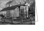 White Barns Greeting Cards - The Barnyard Greeting Card by Bill  Wakeley