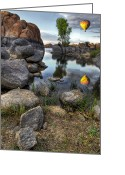 Watson Lake Greeting Cards - The Bobber Greeting Card by Sean Foster