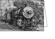 Freight Greeting Cards - The Brakeman BWHDR Greeting Card by Robert Frederick