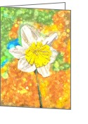 Angela Stanton Greeting Cards - The Buzzing Life of a Spring Narcissus Greeting Card by Angela A Stanton