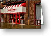 Store Fronts Greeting Cards - The Chocolate Factory Greeting Card by David Patterson