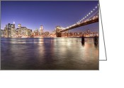 Tisdale Greeting Cards - The City Lights of Manhattan Greeting Card by Mark E Tisdale
