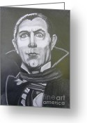 Count Dracula Greeting Cards - The Count Greeting Card by Anne Shoemaker-Magdaleno