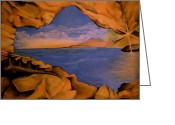 Cave Pastels Greeting Cards - The Cove Greeting Card by Joey Beckham