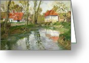 Small House Greeting Cards - The Dairy at Quimperle Greeting Card by Fritz Thaulow