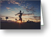Dusk Greeting Cards - The Dancing Queen Greeting Card by Laurie Search