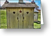 Vintage Outhouse Greeting Cards - The Double Love Boat Outhouse Greeting Card by Lee Dos Santos