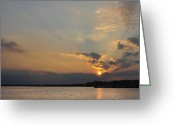 Terry Deluco Greeting Cards - The end of the day Greeting Card by Terry DeLuco