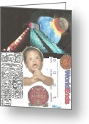 Aztec Calendar Mixed Media Greeting Cards - The End of the world - O Really Greeting Card by Charles M Williams