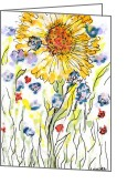 Regina Valluzzi Greeting Cards - The Extravert Greeting Card by Regina Valluzzi