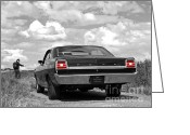 Cobra Poster Greeting Cards - The Hitchhiker - Ford Torino Cobra Jet Greeting Card by Gill Billington