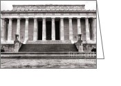 Commemorative Greeting Cards - The Lincoln Memorial Greeting Card by Olivier Le Queinec