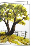 Artiste Greeting Cards - The Living Tree by Prankearts Greeting Card by Richard T Pranke