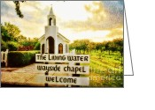 Wayside Greeting Cards - The Living Water Wayside Chapel Greeting Card by Scott Pellegrin