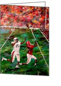 Sports Art Painting Greeting Cards - The Longest Yard  Greeting Card by Mark Moore