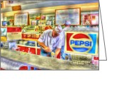 Milkshakes Greeting Cards - The Malt Shoppe Greeting Card by Dan Stone