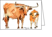 "\\\""texas Artist\\\\\\\"" Greeting Cards - The Mentor Greeting Card by Kathleen McElwaine"
