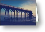 Pacific Ocean Photo Greeting Cards - The Night is Coming and Were Together Greeting Card by Laurie Search