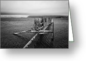 Thomas Berger Greeting Cards - The old pier Greeting Card by Thomas Berger