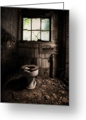 Abandoned Buildings Greeting Cards - The Old Thinking Room Greeting Card by Gary Heller