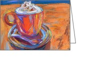 Tea Pastels Greeting Cards - The Pleasure of a Well-Made Thing Greeting Card by Beverley Harper Tinsley