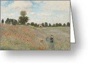 Argenteuil Greeting Cards - The Poppy Field Greeting Card by Nomad Art And  Design