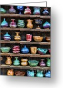 Street Vendor Greeting Cards - The Potters Shelf Greeting Card by Lee Dos Santos