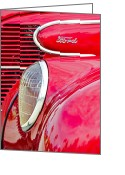Oldfashioned Greeting Cards - The Red Ford Greeting Card by Carolyn Marshall